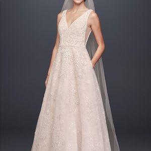 Oleg Cassini designer wedding gown